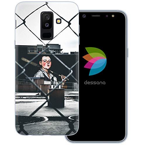 dessana Baseball Transparente Schutzhülle Handy Case Cover Tasche für Samsung Galaxy A6+ (2018) Baseball Stadion Mlb Baseball-handy