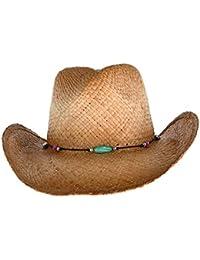 3f6ddf7399c Kenny K Women s Raffia Western Hat with Beaded Hatband