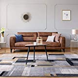Taleta Designer Modern Abstract tappeto super morbido a pelo corto nero grigio beige 80x150cm