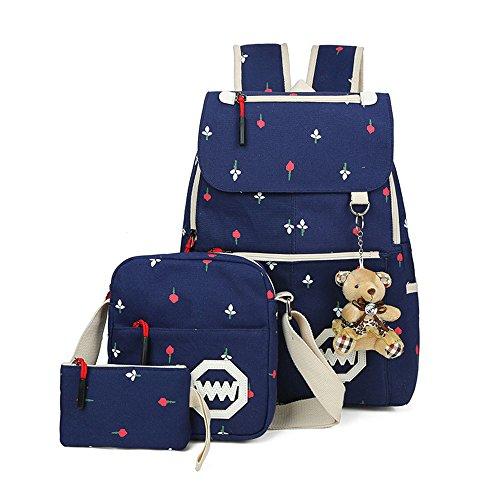 b0d2739afbc55 Lässige Leinwand Rucksack Lash Schultasche Schulter Messenger Bag Reise  Laptop Tasche Leichte Rucksäcke Bleistift Tasche mit