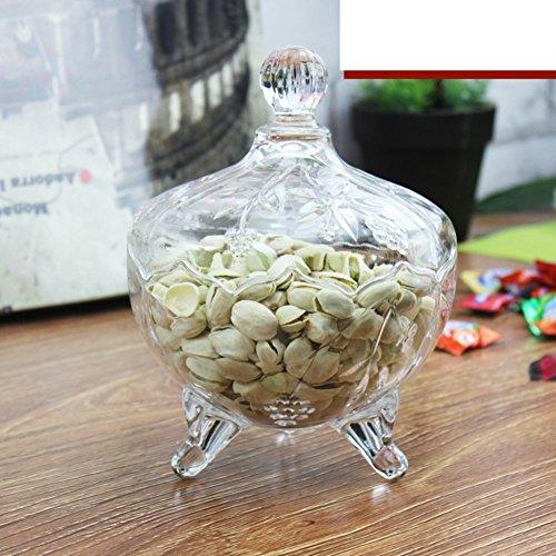 ZHAS Bleifreies Kristallglas Obstschale Erdnuss samen Obstteller Satz von drei Zucker - Schale Zucker Crystal