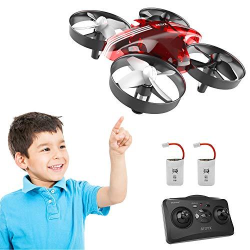 Mini Drohne für Kinder und Anfänger, RC Drone, Quadrocopter Mini Helikopter mit Höhehalten, Kopflos Modus, 3D Flips, EIN-Tasten-Rückkehr, Bestes Geschenk, 2 Batteries