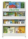 Tidy Books - Das Originale personalisierte Kinder-Bücherregal in Cremeweiß - Buchcover Werden präsentiert - Schmales Regal fürs Kinderzimmer - Ideale Kinderbücher Aufbewahrung - 115 x 77 x 7 cm …
