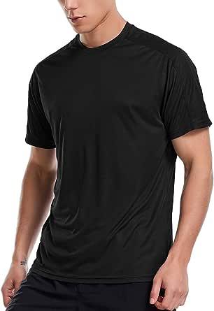 Zengjo Quick Dry Gym Shirt Mens Running Top Short Sleeve