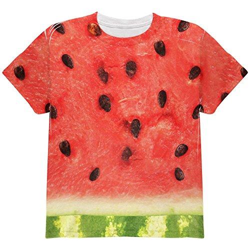 Wassermelone-Kostüm Halloween auf der ganzen Jugend T Shirt Multi (Wassermelone Kostüme Kinder)