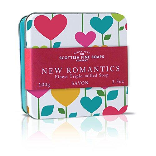 Scottish Soaps Soap In A Tin New Romantics Canvas Heart 100g