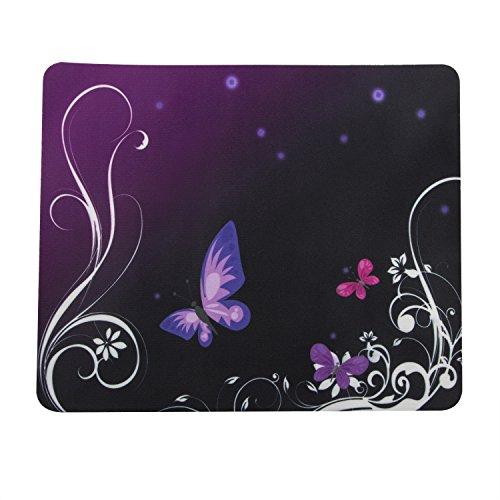 Preisvergleich Produktbild TRIXES Mauspad mit Lila Schmetterlings-Muster