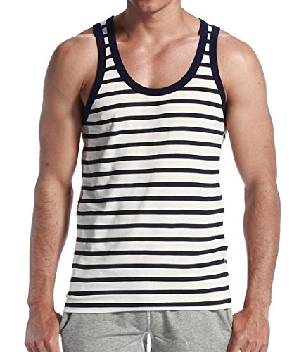 Honeystore 3er Pack Herren Top Stripe Big Tank Schwarz XL (3-pack Rib Jungen)