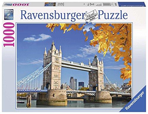 Ravensburger - Vista del Puente de Londres, Rompecabezas de 1000 Piezas, 70 x 50 cm (196371)