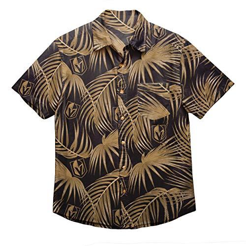 NHL Herren Hemd mit Blumenmuster, Herren, FLORAL Shirt, Vegas Golden Knights, Small -