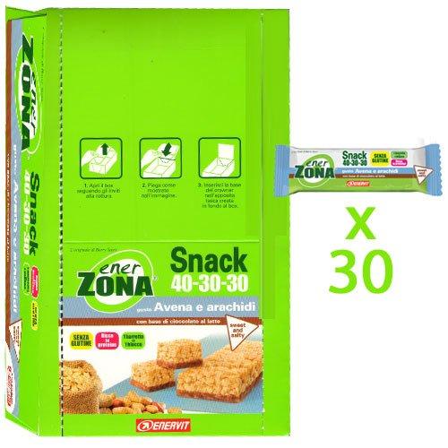 enerZONA bar Snack avena e arachidi box da 30 - 51zSJWrEutL