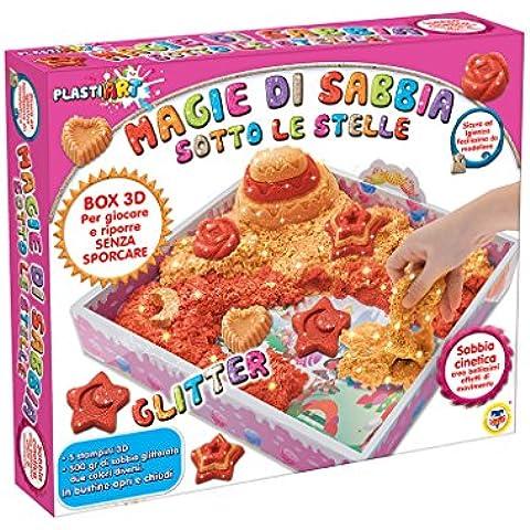 Teorema 64327 - Magie di Sabbia Glitter Set Sabbia Modellabile, con 5 Stampini e Due Colori, Crea Fantastici Dolci