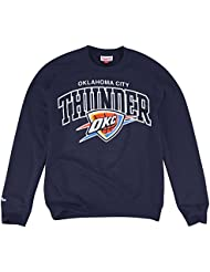 Mitchell & Ness Oklahoma City Thunder équipe NBA Sweat-shirt Bleu marine
