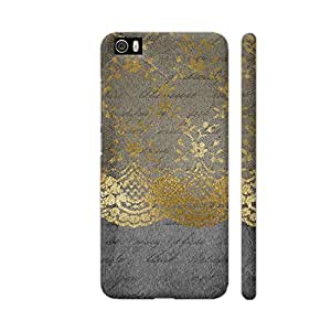 Colorpur Xiaomi Mi 5 Cover - Vintage Shabby Chic Gold Lace On Grunge Black Paper Printed Back Case