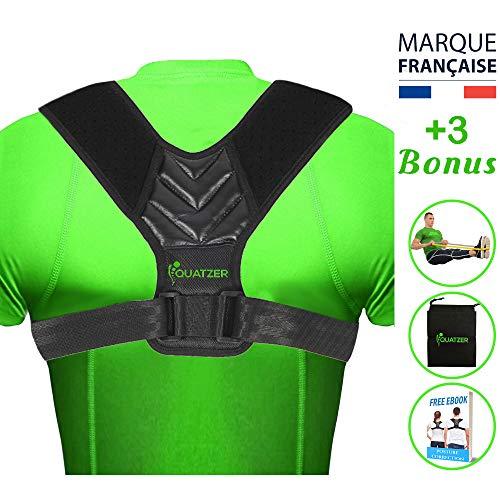 Haltungskorrektur und rückenstütze für Herren und Frauen - Verstellbare Rückenbandage für gerade Schulterunterstützung - Unterstützung für Wirbelsäule, Nacken - kostenlose Tasche+Ebook+Elastikband
