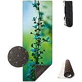 CC Decoration Exercise Mat,Tappetino per Esercizi Blue Plant, Stampa Personalizzata di Grandi Stuoie di Allenamento per Esercizi Aerobici di Pilates