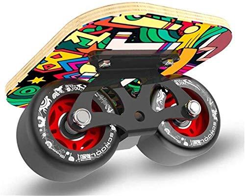 TTYY Freeline Drift Brett Erwachsene Anfänger Split Drift Skates Skateboard Vier Runde 7-stöckige Maple Anti-Rutsch-Wear-Resistin A