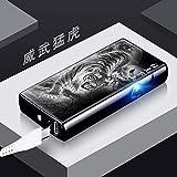 Fingerabdruck Sensing Touch Doppel Arc Lade Foto Feuerzeug mit Licht USB Elektronische Zigarettenanzünder Geschenk Anpassung, Downhill Tiger