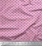 Soimoi Rosa Poly Georgette Stoff geometrisch klein Stoff