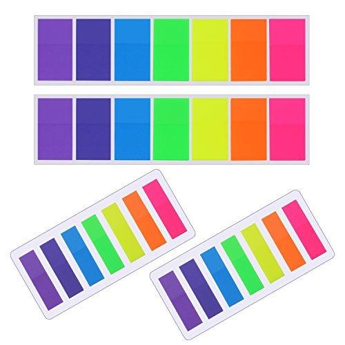560Stück Sticky Notes Flaggen Index Taben Text Textmarker Streifen beschreibbares Etiketten Seite Marker Lesezeichen, 2Größen, 7Farben, 4Sets