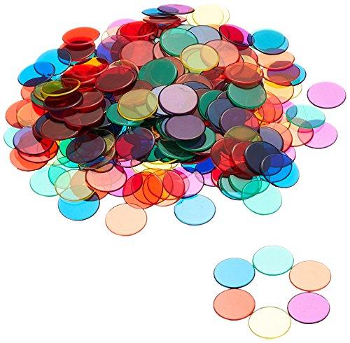 Learning Aprendizaje Recursos contadores de transparente (6colores)