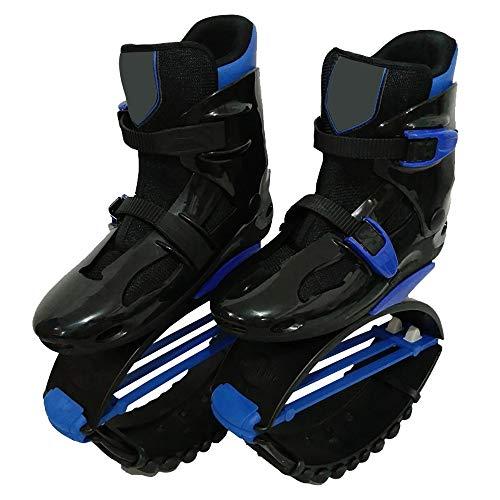 CHHBOXCHH Jumper 1 Shadow HäRte Hard Von 80 Bis 110 Kg Gewicht,Jumps Rebound Shoes Power ,Leichter HäRtegrad,Unisex Antigravitationlaufstiefel FüR Erwachsene,Blackblue-XXL