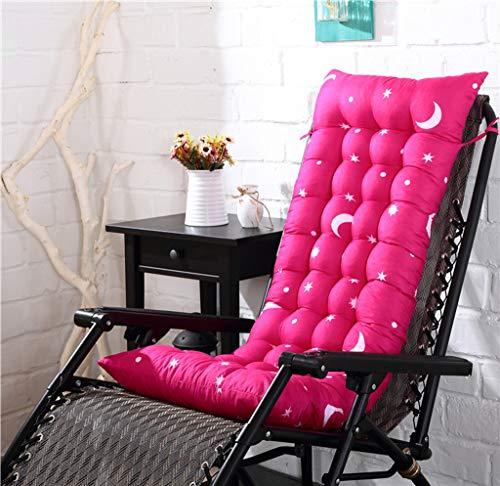 YYRZGW Lounge Chair Kissen Indoor Outdoor Chaise Lounge Kissen Sofakissen mit Kappe Perfekt für Garten Patio Matratze für-Rosenrot B-48x155x8Cm - Outdoor Chaise Lounge-set