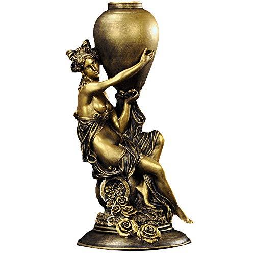 LIMEIA Statue De Jeune Fille Nue, DéCoration De Maison De Sculpture Moderne, Artisanat De RéSine, Convient Au Salon, éTude, Bureau, Café, Club,A