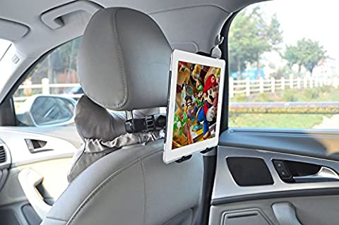 VRLEGEND iPad Car Mount Holder - Tablet Headrest Mount Car Backseat Holder With 360 Degree Rotation for iPad Mini, iPad Air, other 7 - 10 Inch