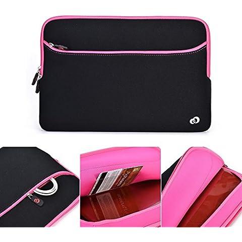 Kroo 33,02 cm Notebook PC/manga Funda de neopreno con bolsillo para ASUS ZENBOOK UX302LA negro Magenta and