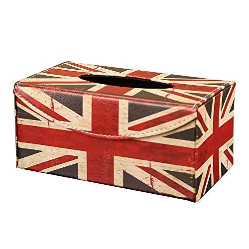 Meltset Aufbewahrungsbox für Papiertücherbox aus Holz für Auto Küche Tisch Bad Bar Servietten Aufbewahrungsbox, Holz, Union Jack, Einheitsgröße