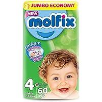 Molfix 3D Maxi/Jumbo Economie Pack de 180 Couches 7-14 kg 1 Mois Taille 4