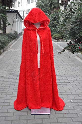 Vivian snow white Little red riding hood Mantel und Umhang Cosplay Kostüm, (Geben Sie uns Ihr Gewicht und (Red Little Riding Hood Mantel)