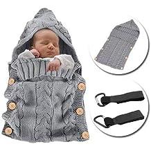MikeCFMm - Saco de dormir para bebé recién nacido, manta de punto de ganchillo para