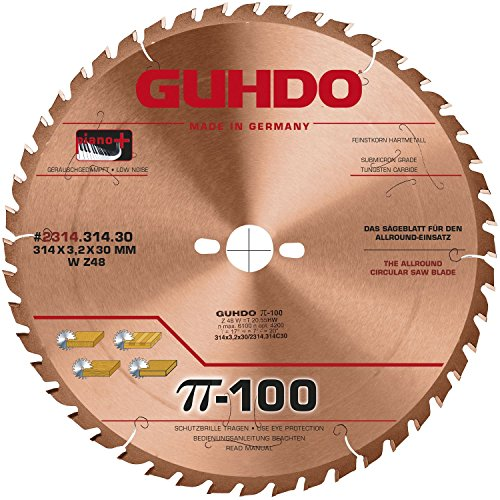Guhdo – G Manteau HW Lame de scie circulaire 303 x 3,2 Alésage 30 mm/Z96 TF/fabriqué en Allemagne