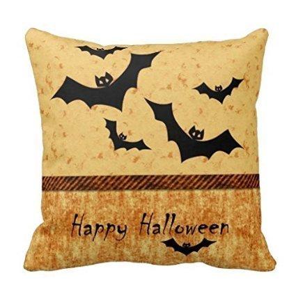 ity Pillow case/Kissenbezüge Happy Halloween, the black bats 18x18(inches) RoxOutStore ()