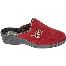 Fleet & Foster Mujer Capa Velcro Cierre Pantuflas Zapatillas De Casa Calzado Morado 40 YZgyVW