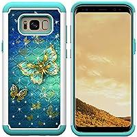 Yobby Hybrid Stoßfest Hülle für Samsung Galaxy S8 Plus, Handyhülle Gold Schmetterling Muster Dual-Layer Diamant... preisvergleich bei billige-tabletten.eu