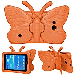 "Funda para Galaxy Tab A 7.0, Funda para Galaxy Tab E Lite 7.0, Funda para Galaxy Tab 4 7.0, Funda Protectora de Espuma Infantil Kids Cover con Soporte para Samsung 7.0"" T280/T285/T230/T110 - Naranja"