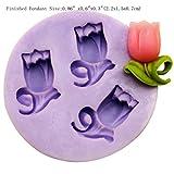 YL Tulip y162Silikon Zucker Kunstharz Craft DIY Formen DIY Gum Paste Blumen Kuchen dekorieren Fondant Form