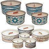 LS Design 2x Duftkerze Kerzen Blütenduft Raumduft Aroma Kerze Lufterfrischer Maritim Set Welle