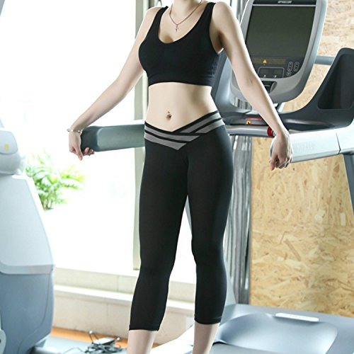 GDRAVEN - Legging de sport - Jegging - Femme X-Large Gris