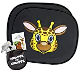 Sonnenblende | Sonnenschutz für Babys und Kinder (Miraffe die Giraffe) | mit Auto Spielebroschüre für die ganze Familie | UV - und Hitzeschutz | Universelle Größe