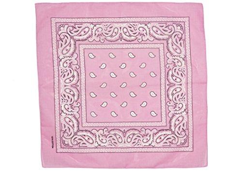(shenky 12er Pack Bandana Kopftuch Bikertuch Halstuch Paisley Muster Hunde Tuch Tücher schwarz apfelgrün rot weiß 100% Baumwolle (rosa))