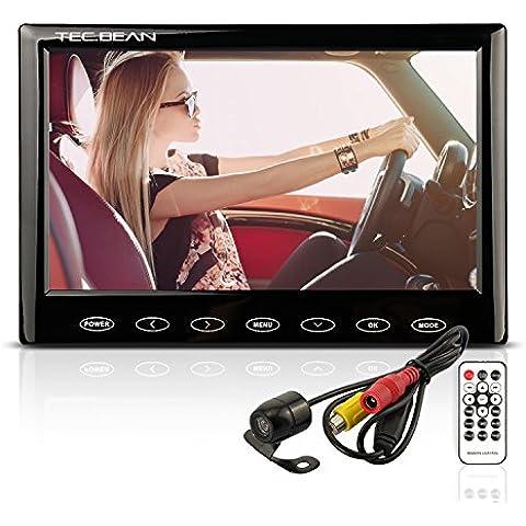 7pollici HD LCD Auto–telecamera & Monitor con MP5funzione display Touch impermeabile visione notturna retromarcia retromarcia della misurazione della distanza parcheggio supporta 32GB TF memoria chips (non incluse)