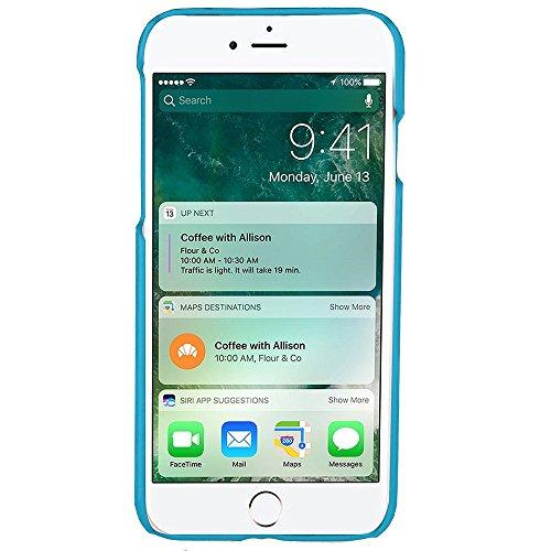 iPhone Case Cover IPhone 7 Abdeckungs-Fall, präzise Öl-Leder-harte rückseitige Abdeckung mit Karten-Schlitzen für Apple IPhone 7 ( Color : 4 , Size : IPhone 7 ) 2