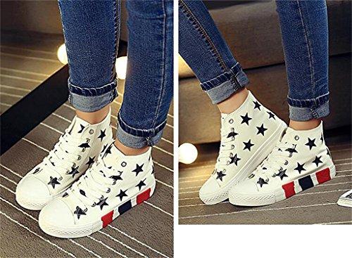 ALUK- Version Coréenne De Haut-Top Chaussures De Chaussures Femmes Chaussures Grosse Croûte Casual Étudiant ( couleur : Blanc , taille : 39 ) Blanc