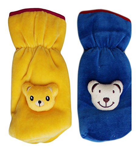 MY NEWBORN Baby Feeding Bottle Cover with Soft & Attractive Fancy Cartoon -Set of 2 Colors & Designs
