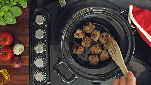 Crock-Pot - Olla eléctrica de cocción lenta, capacidad de 4,7 l, color negro y plata