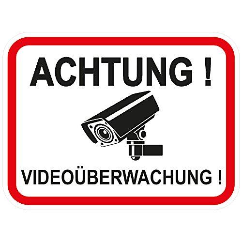 """10 Stück Aufkleber""""Achtung Videoüberwachung"""" 120x90 mm, selbstklebend, kratz und Wetterfest"""